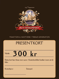 Presentkort värde 300Kr