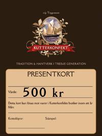 Presentkort värde 500Kr