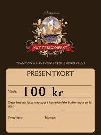 Presentkort värde 100Kr