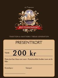 Presentkort värde 200Kr
